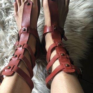 Aldo rust gladiator sandals